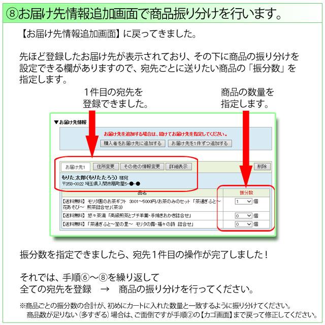 複数宛先発送方法の説明